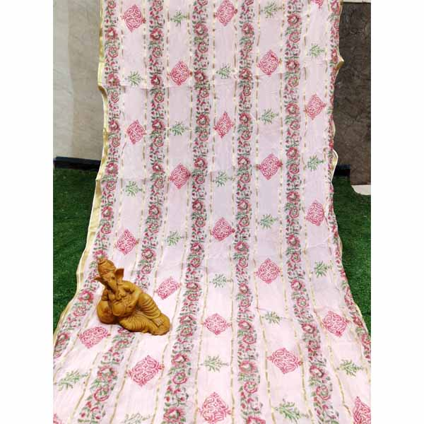 Georgette Saree By Rajasthan Collection (Light Pink)