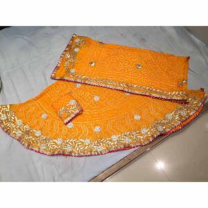 Lehenga Choli With Dupatta Set By Rajasthan Collection (Yellow)