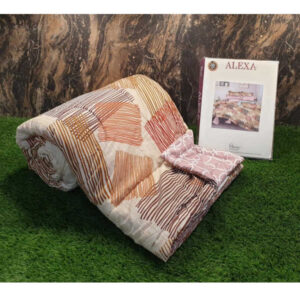 New Arrivals Alexa Glace Cotton One Queen Size Bedsheet, Two Pillow Covers With One Comforter By Shivam Creation(Multicolor6)