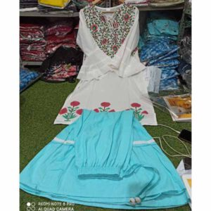 Cotton Kurti With Sharara For Women By Rajasthan Collection