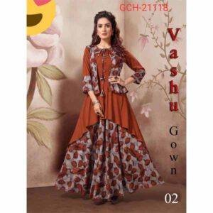 Designer Cotton Vashu Gown For Women By Radha Rani Fashion