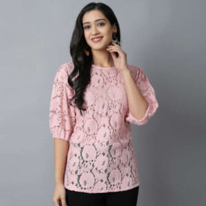 New Designer Cotton With Nylon Women 3/4 Th Sleeve Top By DHD Fashion