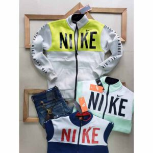 Nike Jacket For Men By Sai Collection (Yellow, Off White)