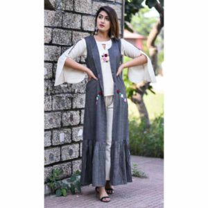 Rayon Kurti & Shrug For Women By Rajasthan Collection