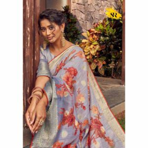Soft Cotton With Weaving Butti Saree By Radha Rani Fashion