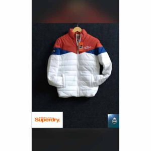 Superdry Jacket For Men By Sai Collection (Brown, White)