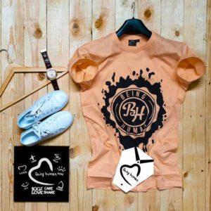 Being HumanTshirt For Men By balaji Collection(Peach)