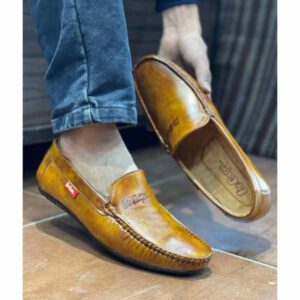 New Loafer Shoes By Adarsh Men Wear(Golden Brown)