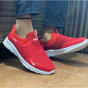 New Without Lace Sneaker Shoes By Adarsh Men Wear (Red)
