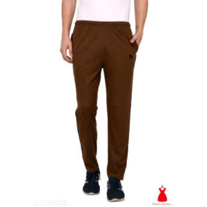 Stylish Men Cotton Solid Track Pants By Hafsa Collection(Brown)