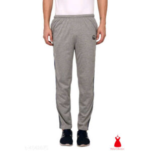 Stylish Men Cotton Solid Track Pants By Hafsa Collection(Grey)