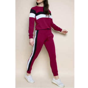 Stylish Rib Cotton Full Sleeve Solid Tracksuit By DHD Fashion