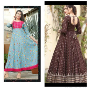 Women Cotton Stitched Gown Combo By Krishna Collection(Multicolor5)