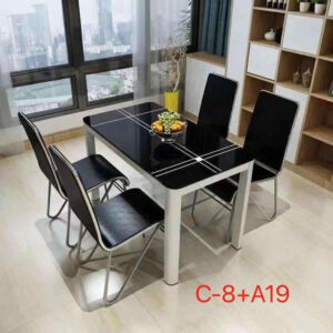 1 Table & 4 Chair Dining Set By Ekta Furniture House