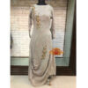 Beautiful Full Sleeve Georgette Embroidered Stitched Gown By Palkii(Light Grey)