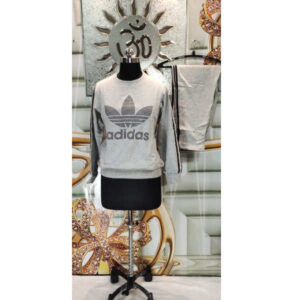 Comfort Fit Adidas Full Sleeve Printed Cotton Round Neck Tracksuit By Roop Vatika