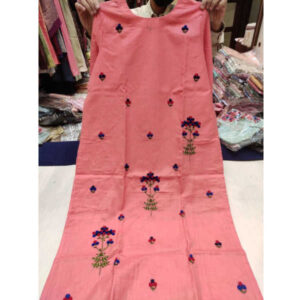 Daily Wear 3/4 Th Sleeve Thread Work Cotton Stitched Kurti By Palkii