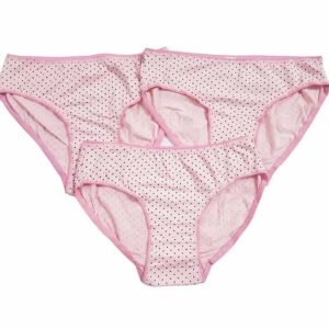 Kids (Girls) Panty Combo Set Of 3 By Bee Jee Creations (Pink)