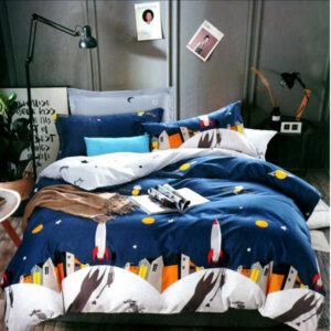 Superfine Glace Cotton One Queen Size Bedsheet With Two Pillow By Bee Jee Creations (Dark Blue)