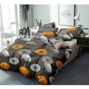 Superfine Glace Cotton One Queen Size Bedsheet With Two Pillow By Bee Jee Creations (Dsrk Brown)