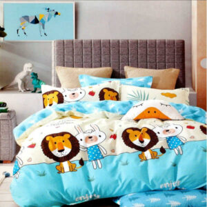 Superfine Glace Cotton One Queen Size Bedsheet With Two Pillow By Bee Jee Creations(White)