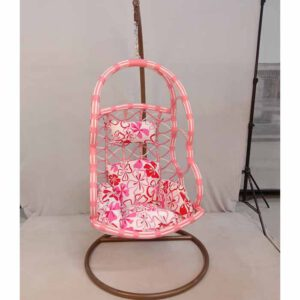 Swing Chair With Stand By Ekta Furniture House (Baby Pink)