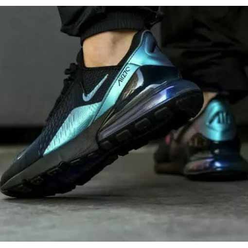 Air 27C Throwback Future Sports Shoes For Men By Baba Online Shopping (Black-Blue)