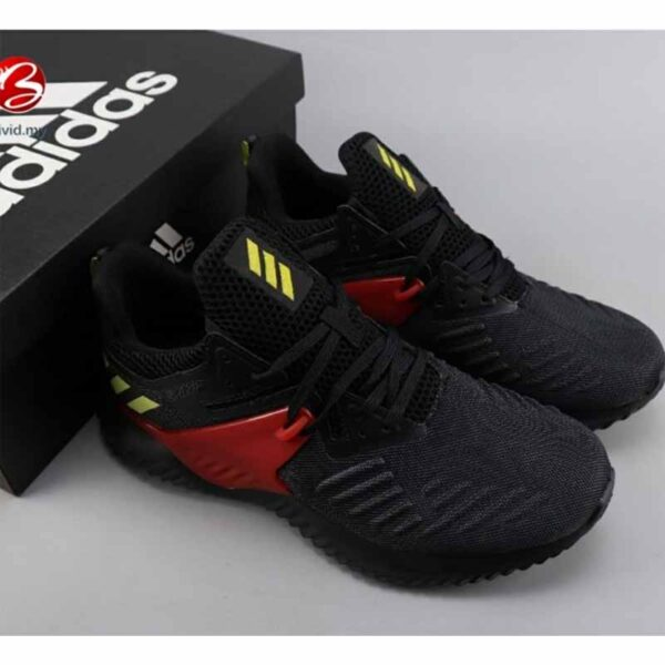 Alpha Bounce Beyond 2 Running Shoes By Harsh Collection (Black-Red)