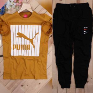 New Branded Half Sleeves T-Shirt & Track Pant Combo For Men By Purnaank Creation