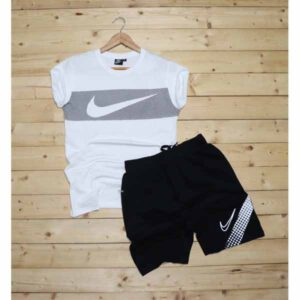 New Branded Round Neck Half Sleeves T-Shirt & Short Combo For Men By SS Fashion