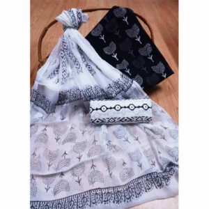 New Hand Block Printed Cotton Suit With Pure Chiffon Dupatta By Bee Jee Creations (29)