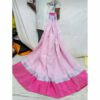 Linen Yarn Dyed Saree By Linen Sarees (Pink)