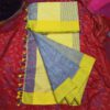 Linen Yarn Dyed Saree By Linen Sarees (Yellow)