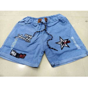 Beautiful Hot looking most demanding Denim Printed Shorts With 4 Pocket(Sky Blue)1