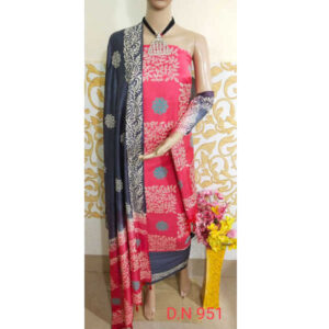 Kharee Special Printed Cotton Silk Dress Materials For Top And Bottom With Dupatta By Waheguru Kirpa